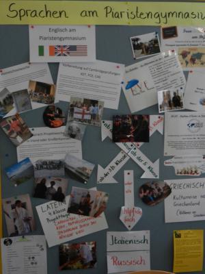 Fotokollage übder die am bg8 unterrichteten Sprachen
