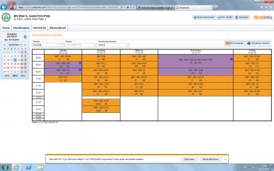 Screennshot elektronisches Klassenbuch