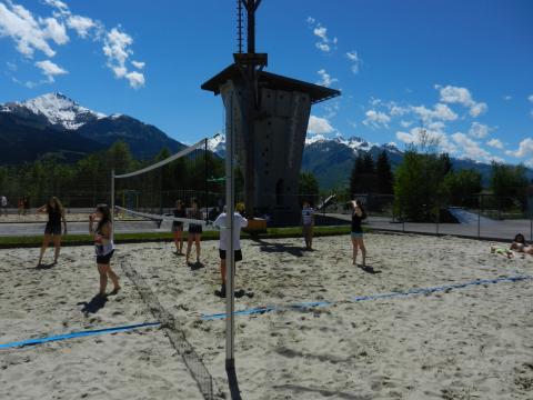 ein Volleyballspiel