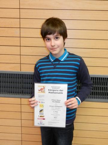 Unser bester Schüler wurde Vierter von Wien