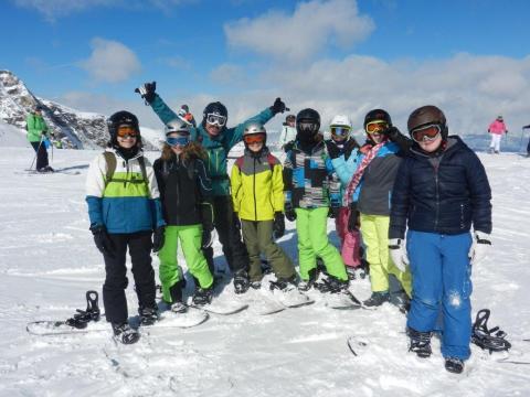 Snowboardgruppe Fortgeschrittene