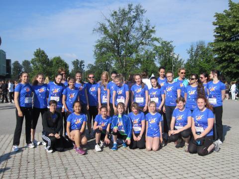 Gruppenbild des bg8-Team vor dem Start