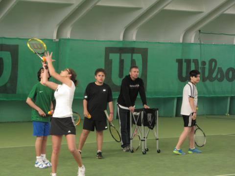 in der Tennishalle